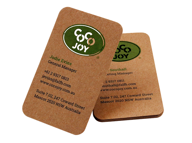 Kraft Paper Business Cards Recycled